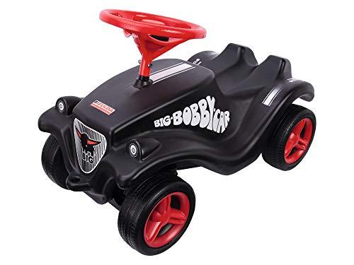 BIG-Bobby-Car Classic Fulda, Kinderfahrzeug mit Aufklebern im Fulda Design, für Mädchen und Jungen, belastbar bis zu 50 kg, Rutschfahrzeug für Kinder ab 1 Jahr, schwarz