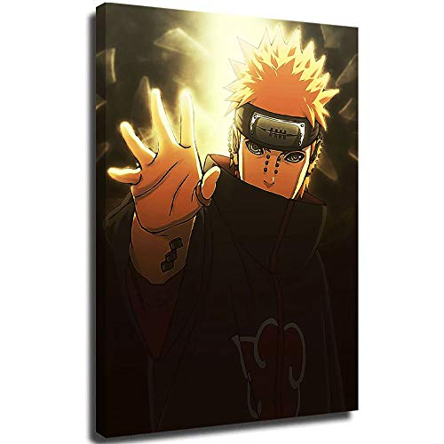Zmcongz Naruto Shippuuden 3D Oil Painting Naruto Nagato 24' x 36' Print Framed for Home Decor,Stretched and Ready to Hang