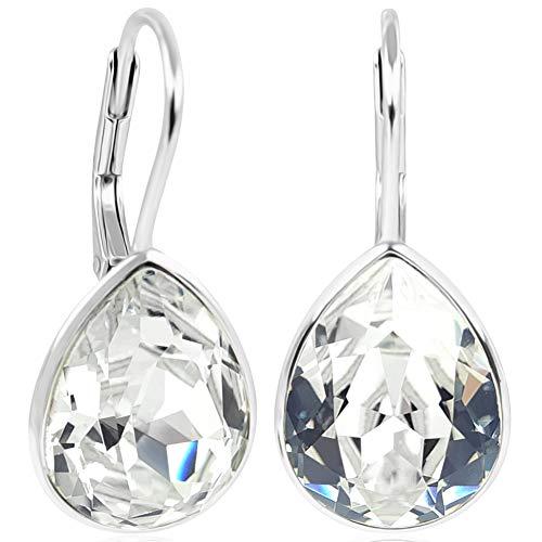 NOBEL SCHMUCK Ohrringe 925 Silber Crystal mit Kristallen von Swarovski® Tropfen