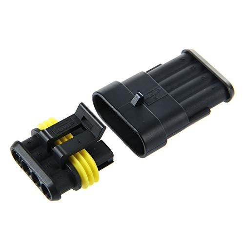 Froomer Kit Enchufe con 4 clavijas impermeables del conector de alambre electrico