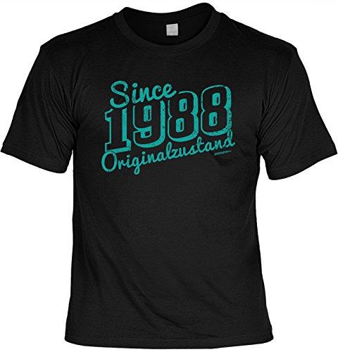 Art & Detail Shirt - Camiseta con texto en alemán 'Since 1988' Negro M