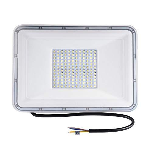 100W LED Strahler, LED Scheiwerfer LED Strahler Außen Superhell Strahler IP67 Wasserdicht Flutlicht Fluter Außenstrahler für Sportplatz Garage Garten Flur Auffahrt (Kaltweiß, 100W)