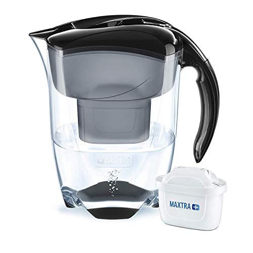 BRITA Wasserfilter Elemaris XL schwarz, inkl. 1 MAXTRA+ Filterkartusche – großer Wasser-Genuss durch die zuverlässige Reduzierung von Kalk und Chlor im Leitungswasser