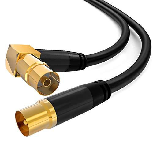TV-antenne kabel rechte hoek PAL man naar vrouw 3M