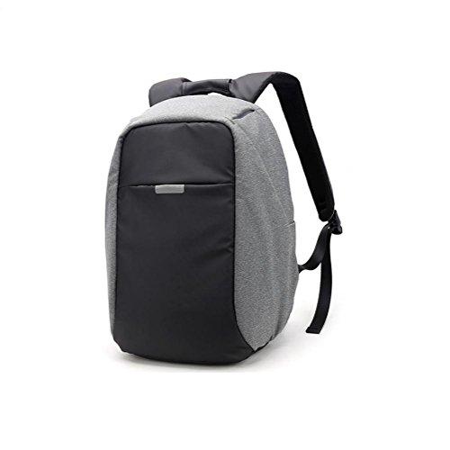 Anti-Theft Laptop Rucksack Business Taschen mit USB-Ladeanschluss Schule Travel Pack Passt Unter die Meisten 15,6 Zoll Laptop, Upgrade Gray Black, 16 inches