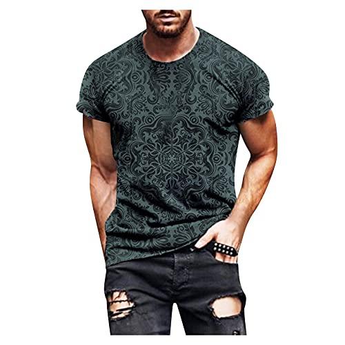Dasongff Oversize Herren Rundhals Shirt...