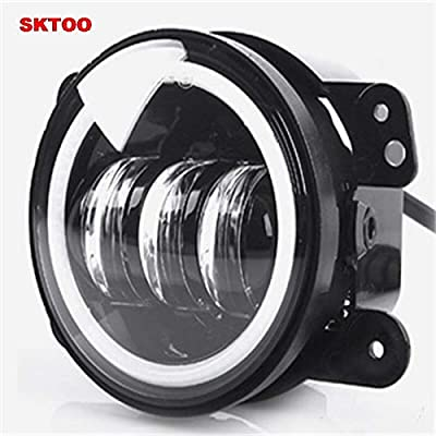 2pcs White Round fog lights lens Projector 30w led 4 inch Front bumper fog lights For Offroad Jeep Wrangler Dodge Chrysler