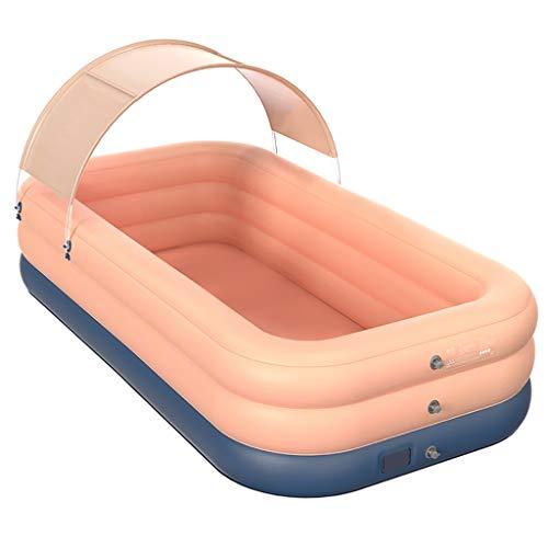 FVIEW Piscina Inflable Inflable automático inalámbrico Plegable Impermeable Espesado Inicio al Aire Libre Conveniente for Adultos de los niños (Color : Pink Upgrade, Size : 2.60m)