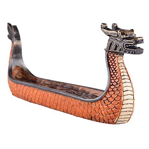 Knowooh Porta Incienso Dragon Boat en casa Porta Incienso Accesorios para la decoración del hogar