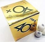 SANWEI ABS 1 x Tischtennis-/Tischtennis-Trainingsbälle im Karton mit 100 Bällen.