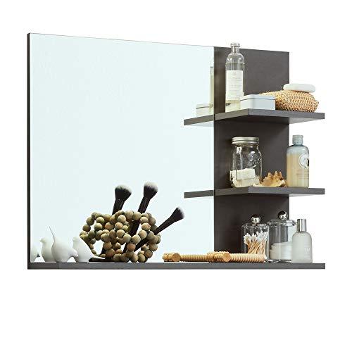 trendteam smart living Badezimmer Spiegel Wandspiegel Indy, 72 x 57 x 20 cm in Matera mit zusätzlicher Ablagefläche