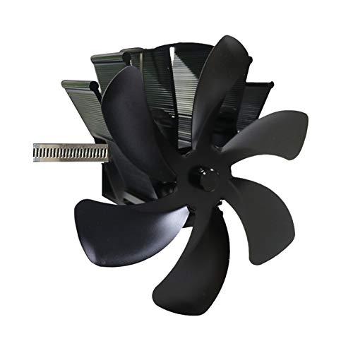 Estufa Ventilador, 6 hojas de la estufa de calor del ventilador accionado registro de madera quemador Ecofan silencioso ventilador Negro Inicio Chimenea eficiente de distribución de calor for madera /