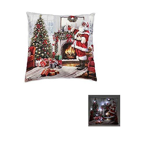 The Good Life Leuchten Usted Papá Noel con árbol de Navidad Escena 12 LED Cojines y Poner 40 x 40 cm un