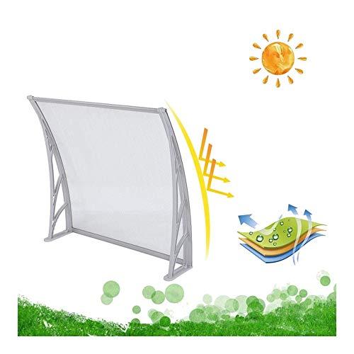 Logo Window Awning Door Canopy, Polycarbonate Hollow Sheet Front Door Patio Canopy Outdoor Sun Shade Rain Blocker FYRANG (Color : White, Size : 39.37 x 31.5 x 9.06)