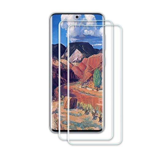 Roclot Protector de pantalla de cristal templado para Galaxy S20, 2 unidades, compatible con huellas dactilares, ultra transparente, dureza 9H, antiarañazos, sin burbujas, para Samsung S20 Ultra