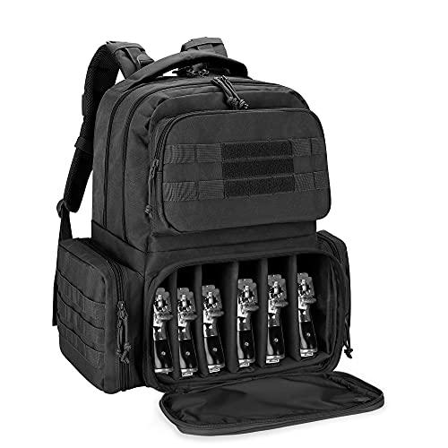 DSLEAF Tactical Pistol Backpack Holds Up to 6 Handguns, Gun...