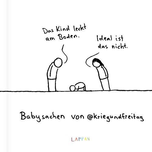 Babysachen von @kriegundfreitag: Das Kind leckt am Boden - ideal ist das nicht