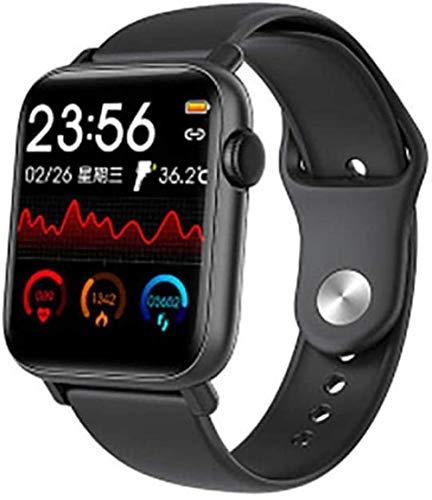 JSL Reloj inteligente con pantalla de color compatible con medición de temperatura corporal, monitor de ritmo cardíaco