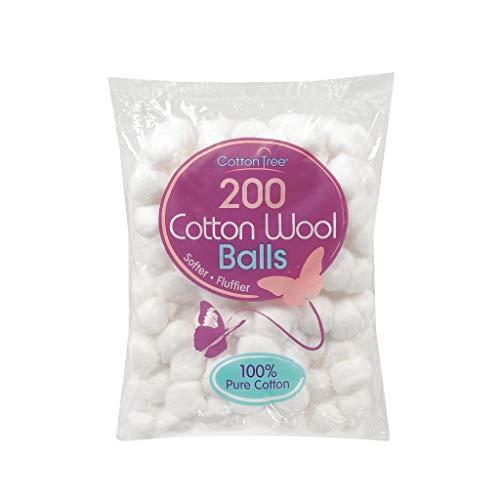 Wit katoen wollen ballen pak van 200