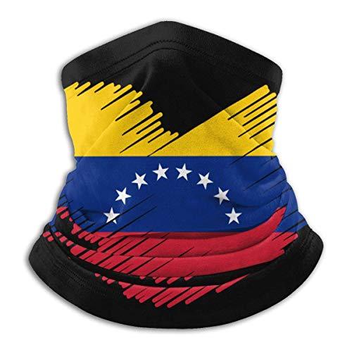Bandera venezolana en forma de corazón Bandana y cuello Calentador Gaiter Shield para pesca y escalada