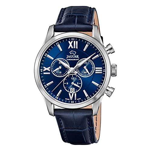 JAGUAR Reloj Modelo J884/2 de la colección ACAMAR, Caja de 41,5 mm Correa de Piel Azul Oscuro para Caballero