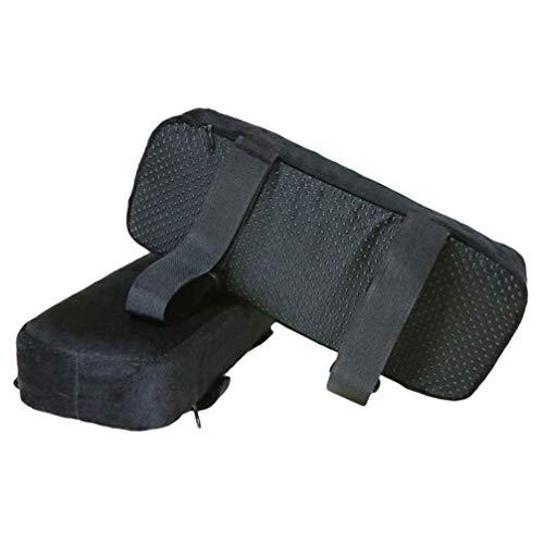 Toporchid 25 × 10 × 5 cm Stuhlarmlehnenpolster Memory Armlehnenpolster Schaumstoff, Universal-Büro- und Stuhlarmlehnenbezüge für Ellbogen und Unterarme