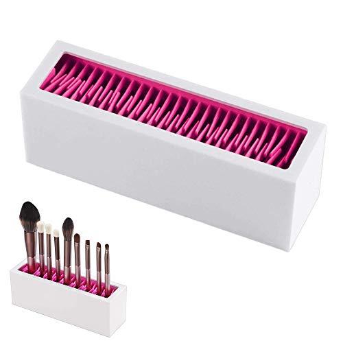 lippenstifthalter organizer Make-Up Brushes Holder Organizer,Make Up Pinsel Aufbewahrung aus Silikon,Kosmetik Organiser,Lippenstifthalter,Silikon Rack Display,für Pinsel, Eyeliner Usw