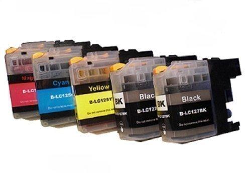 5 cartridges met chip voor Brother met vrije kleurkeuze LC-121 LC-123 LC-125 LC-127 DCP-J132W DCP-J152W DCP-J152W DCP-J152WR DCP-J172W DCP-J552DW DCP-J752DW DCP-J4110DW DCP-J4110DW MFC-J245 MFC-J470DW MFC-J650DW C-J870DW MFC-J4310DW MFC-J4410DW MFC-J4510DW MFC-J4610DW MFC-J4710DW MFC-J6520DW MFC-J6720DW MFC-J6920DW met chip