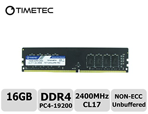 Timetec Hynix IC DDR4 2400MHz PC4-19200 Non ECC Unbuffered 1.2V CL17 2Rx8 Dual Rank 288 Pin UDIMM Desktop PC Computer Memory Ram Module Upgrade (16GB)