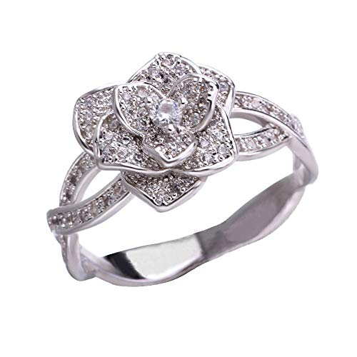 Why Choose Muranba Ring Round Diamond Wedding Band Anniversary Gift Accessory Rings Size 9