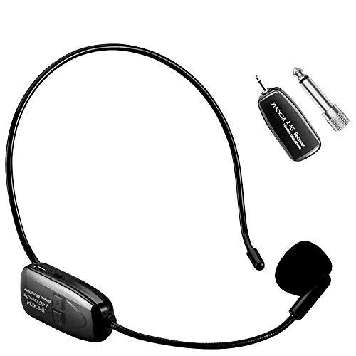 XIAOKOA 2.4G micrófono inalámbrico, la transmisión inalá
