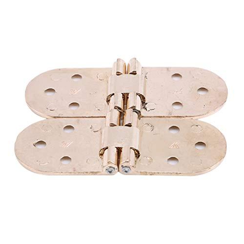 unknow JIFeng Verstellbare Türklappenscharniere Verdeckter Scharnierdeckel aus Zinklegierung,Golden