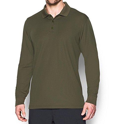 Under Armour Men's Tactical Performance Long Sleeve Golf Polo , Marine Od Green (390)/Marine Od Green , Small