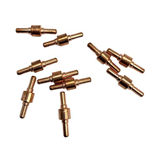 kesoto 10er Pack Plasmaschneider Schneidbrenner Verbrauchsmaterial für Plasmaschneidbrenner 40A / PT-31 - Normal, 30 mm