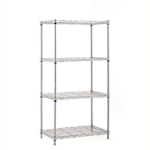 Blue Hawk 4-Tier Plastic Freestanding Shelving Unit Storage Shelf Shelves Rack, White