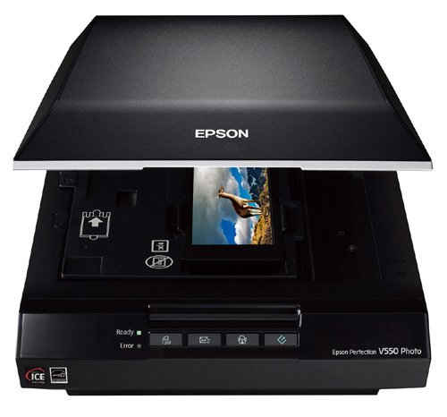 Epson Perfection V550 Color Photo, Image, Film, Negative & Document Scanner with 6400 dpi (Renewed)