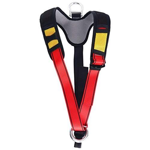 JTSYUXN Bergsteigen Sicherheit Gürtel Downhill Luft Arbeit Schutz Ausrüstung Outdoor Expansion Abseilen Klettern Gürtel Fullbody Harness (Color : C)