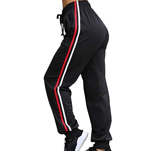 GDRFHJZ hardloopbroek voor dames, slim high waist strepen, bandage, joggerbroek