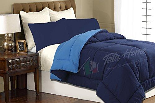 Tata Home Piumone Trapunta Invernale Bicolore Double Face da 350 gr/mq Misura 2 Piazze Letto Matrimoniale 260x260 cm Colore Blu Azzurro