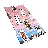 Toalla de Microfibra Poker Card Toallas de Secado rápido Toalla Deportiva 27.5 * 15.7In