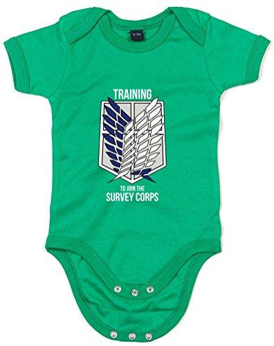 Print Wear Clothing Training To Join The Survey Corps, Imprimé bébé grandir - Vert/Blanc/Transfert 0-3 Mois