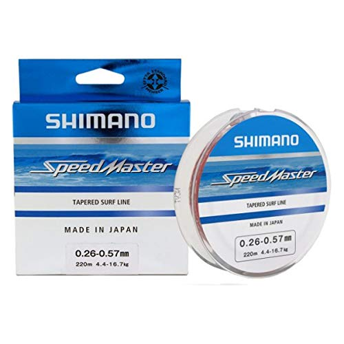 SHIMANO Nylon Speedmaster Surf Taper LD Clear 10x15m - D.0,33-0,57mm - R.7,20-17,00Kg - SMTLSF3357C