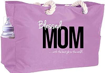 KEHO Ultimate Waterproof Mom Diaper Bag (Huge) Perfect Baby Shower Gift Comfy Handle Pockets … (Pink)