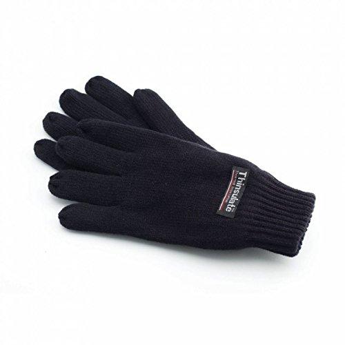 YOKO - Gants de ski thermiques Thinsulate 3M - Adulte unisexe (Taille unique) (Noir)