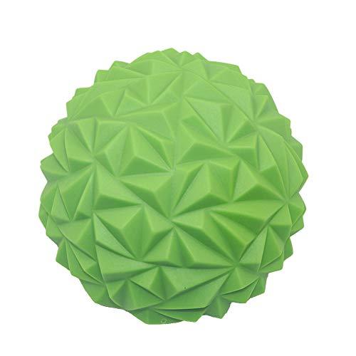 ZDYS Yoga-Ball, Fuß, PVC, für den Innenbereich, Fitness, Balance, Halbkugel mit Stacheln, Massage-Training, sensorische Integration, Spielzeug, Trittstein-Spiele (grün)