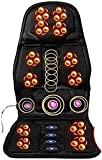 Shiatsu Electric Back Massager with Heat - Massage Chair Pad Deep Kneading Full Back Massager Massage Seat Cushion for Home Office Use, Black