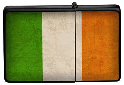 Feuerzeug Benzinfeuerzeug Sturmfeuerzeug Metallfeuerzeug in Farbe Schwarz Irland Flagge