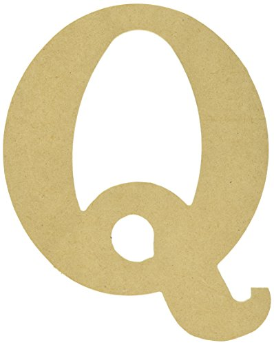 MPI MDF Classic Font Wood Letters and Numbers, 9.5-Inch, Letter-Q