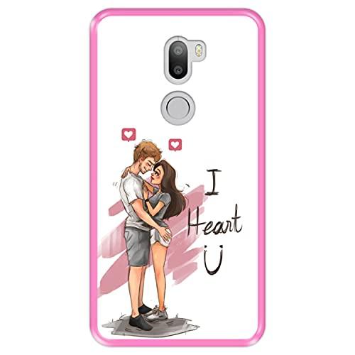 Hapdey Custodia per [ Xiaomi Mi5s Plus - Mi 5s Plus ] Disegni [ Momenti romantici, Ti Cuore ] Cover Guscio in Silicone Flessibile Rosa TPU