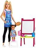 Barbie- Carriere Playset Insegnante di Pittura Bionda con Bambola e Accessori Giocattolo per Bambini 3+ Anni, GJM29
